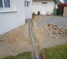 Passage supplémentaire de gaine elec et tuyau d'eau pour alim bassin