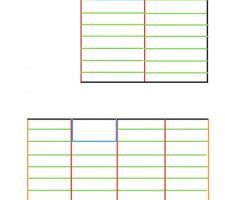 Plan solivages niveau 1 et niveau 2