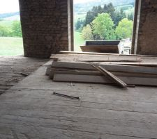 Début démolition plancher