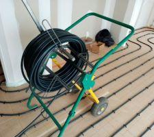 Installation de l'Isolant et des tuyaux de chauffage au sol