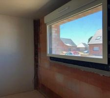 Fenêtre fixe aluminium bicolore) salon