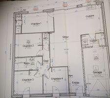 Voici le plan de la future maison