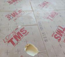 Pose de 48mm de TMS au sol pour couler une chape de 5cm