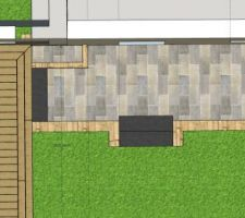 Projet terrasse partie derrière garage