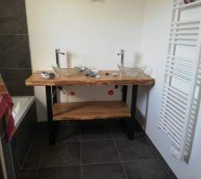 Meuble salle de bain en COURS d'installation