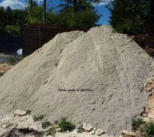 Du sable pour le mortier