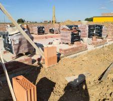 Prorotherm + briques Vandersanden moulées main Mur sud