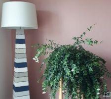 Ma belle plante avec le lampadaire relooké