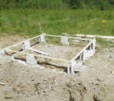 Futur abris jardin en cours, on va faire un plancher bois finalement.