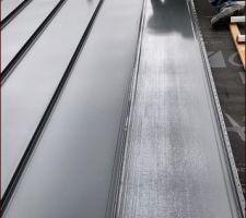 Pose de la couverture bac acier à joints debout