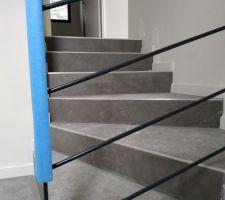 Garde-corps escalier - vue en montant l'escalier