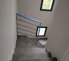 Garde-corps escalier - vue depuis l'étage