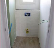 Joints (gris perle) carrelage imitation parquet et salle de bain