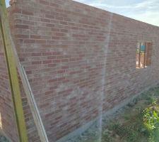 Prorotherm + briques Vandersanden moulées main Murs nord