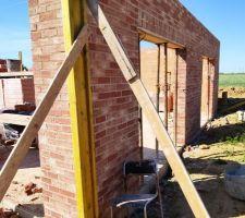 Prorotherm + briques Vandersanden moulées main Mur est