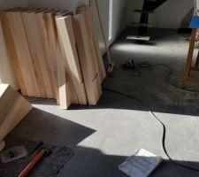 Escalier en pièces détachées
