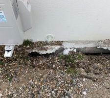 Le tour de maison s'est effondré ! encore un peu plus......