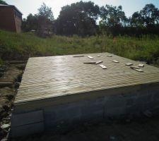 Fondation abris jardin terminé