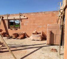 Prorotherm + briques Vandersanden moulées main Future salle à manger