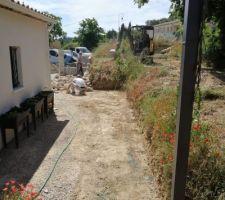 Aménagement du jardin en cours