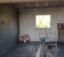 Enduit mur de la cuisine