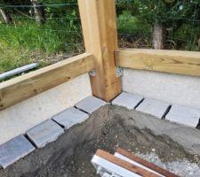 Pavage intérieur carport , bon repere pour la mise en place du nidagravel et gravillons à venir