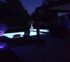 Eclairage du jardin terminé
