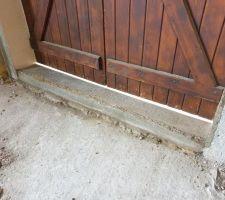 Seuil de porte fenetre