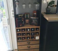 Nouveau meuble pour les bouteilles et mise en avant des  rhums