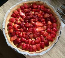 Tartes aux fraises du jardin