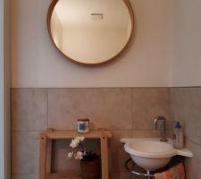 La décoration des WC du RDC est terminée