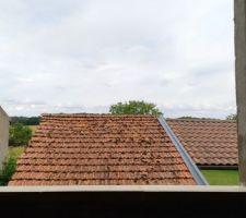 Vue du bureau sur les toits...