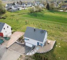 Vue aérienne de la maison