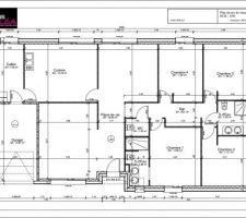 Le plan de la maison après plusieurs échanges avec le partenaire Maisons Stylea