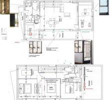 Une nouvelle version de l'aménagement intérieur. Ces plans vont être repris par N&C Construction dans les 15 jours :)