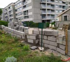 Mur nord entrée du lotissement