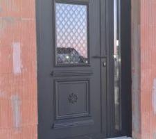 Double porte d'entrée noir