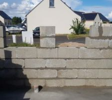 Elevation des murs 1er jour (vue de la cuisine)