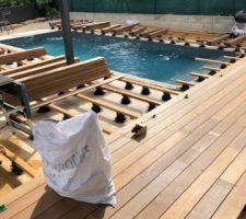 Création de la terrasse en Ipé