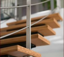 Escalier bambou