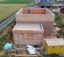 Prorotherm + briques Vandersanden moulées main façade ouest