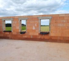 Prorotherm + briques Vandersanden moulées main Vue étage