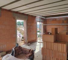 Prorotherm + briques Vandersanden moulées main Vue rez-de-chaussée