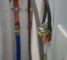 Raccordements électriques du module intérieur de la PAC