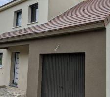 Enduit facade terminé, bi coloré (Aquitaine + Finistère de chez PRB).2/2
