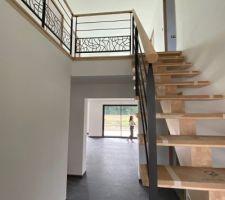 Escalier en Hévéa réalisé par Debret escalier