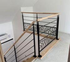 Escalier en Hévéa, réalisé par Debret escalier