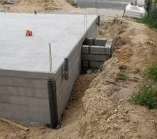 Ajout de poteaux de renforcement pour la terrasse