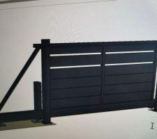 Choix et commande du portail autoporté en 4 M de largeur et 1M80 de hauteur  la pose se fera en septembre je pense , ainsi que les panneaux en grillage soudés de même hauteur et noirs également.