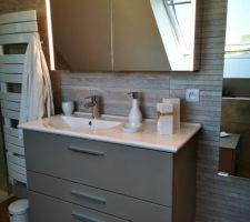 Salle de bain terminée dans les combles